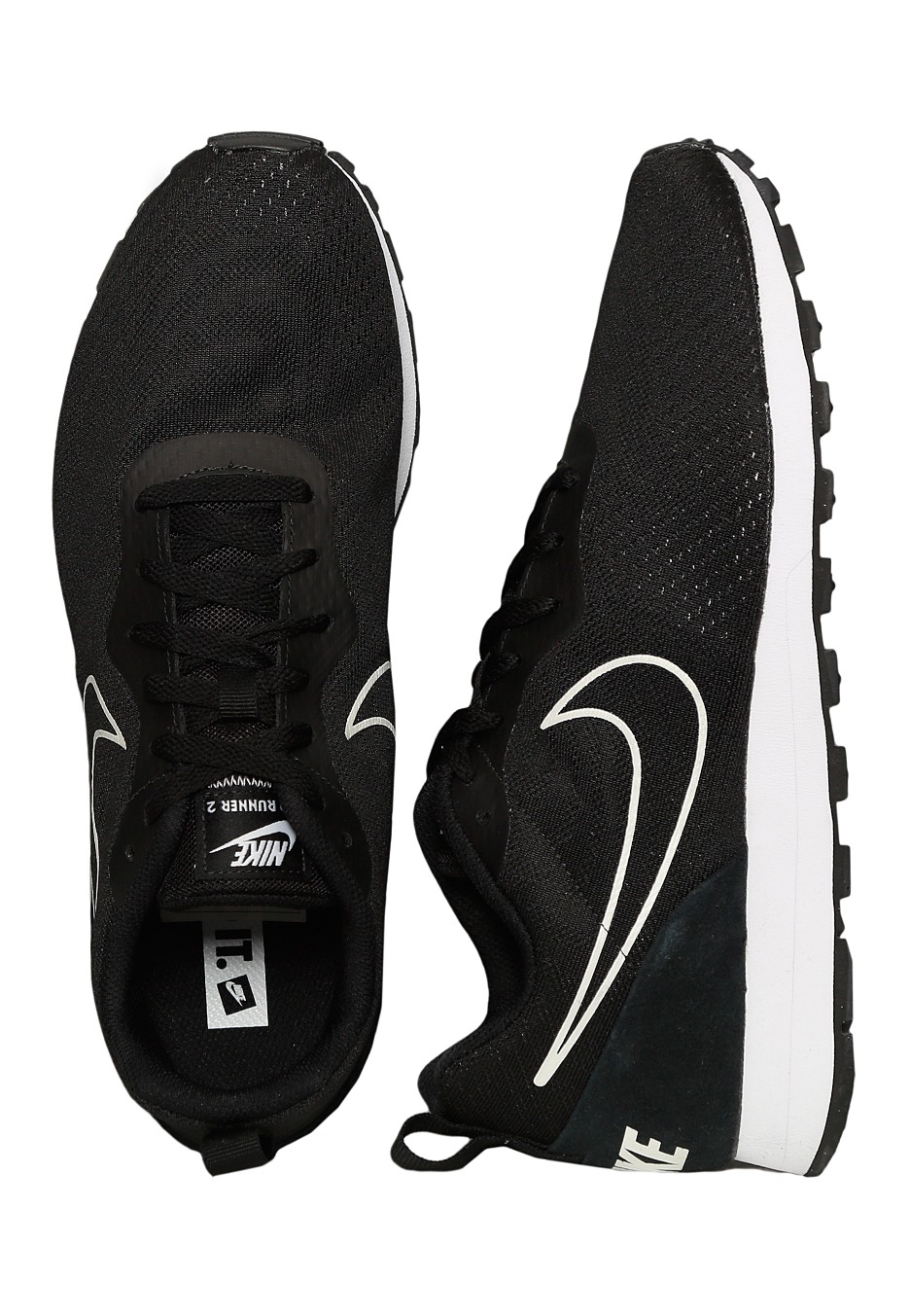 180c691cfbf5 Nike - MD Runner 2 Mesh Black Black - Shoes - Impericon.com UK