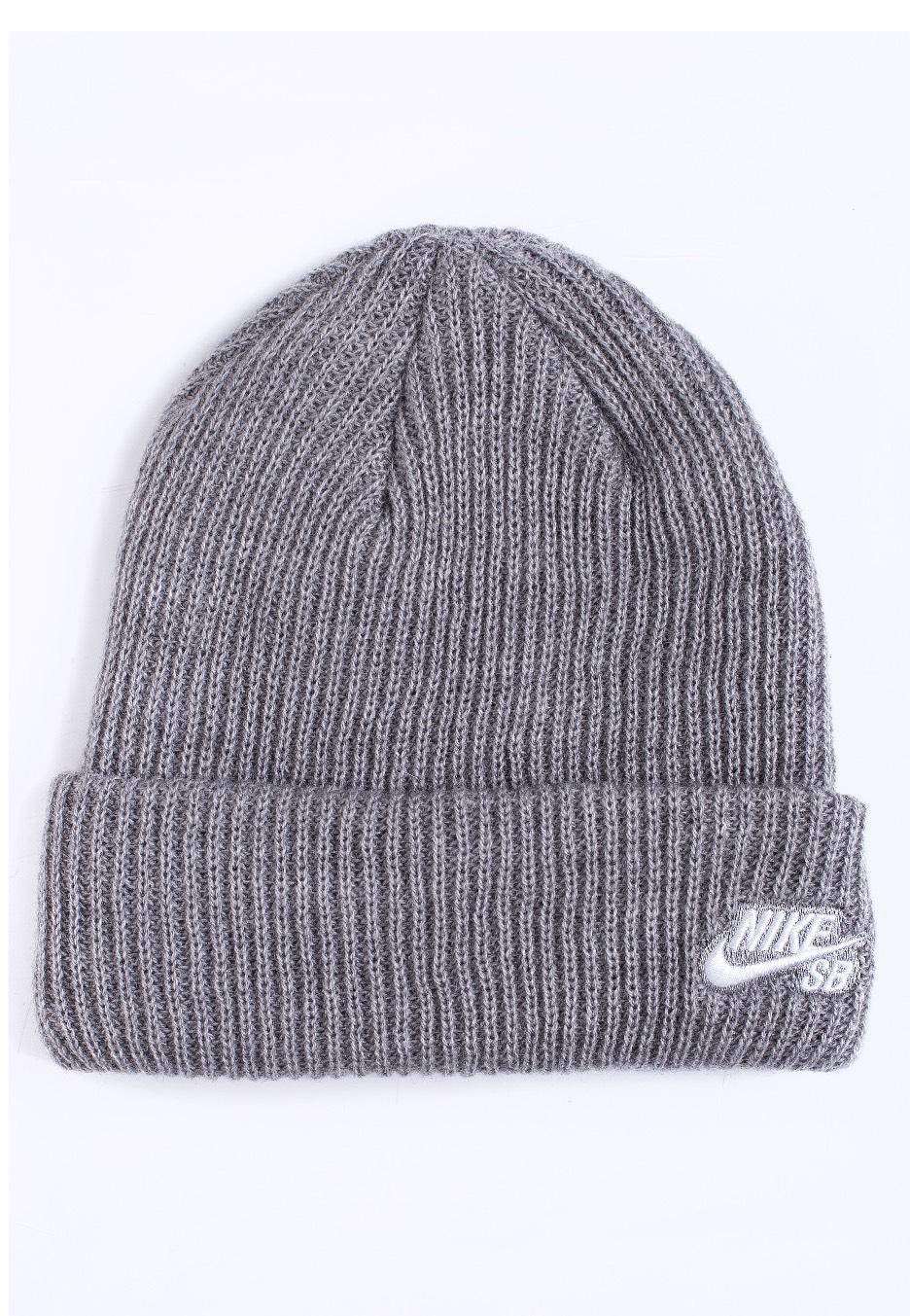 9932a44feaa Nike - SB Fisherman Dark Grey Heather White - Beanie - Streetwear Shop -  Impericon.com UK