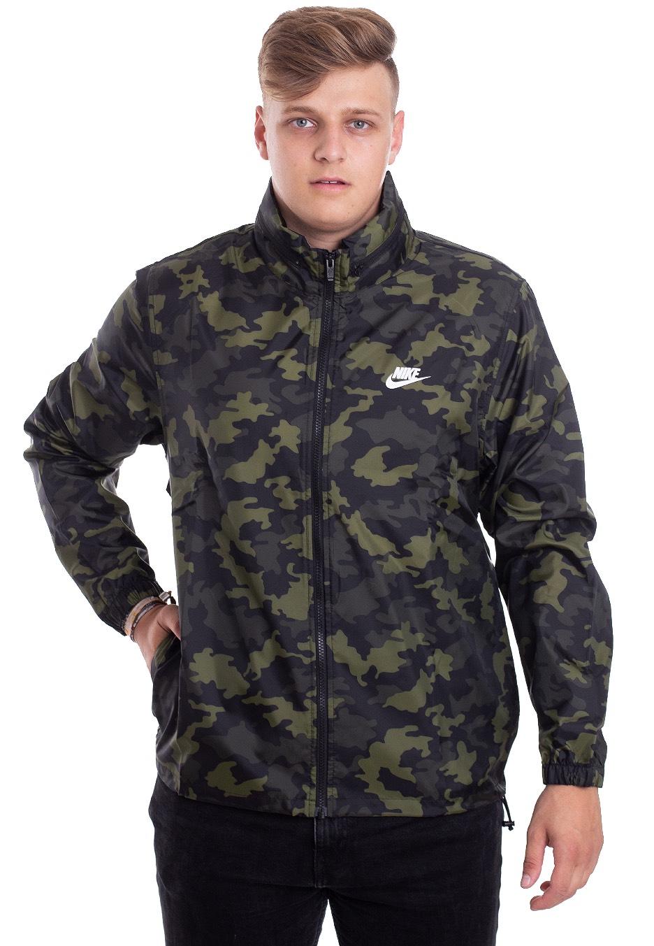Nike NSW CE HD Camo LG GreenSMT White Jacket