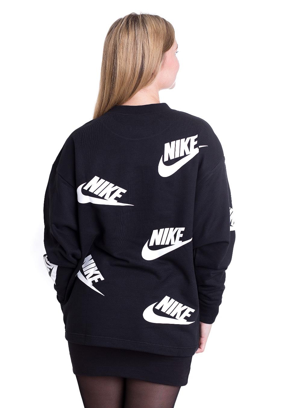 Nike Nsw Crew Futura Toss Blackwhite Pull Boutique Streetwear