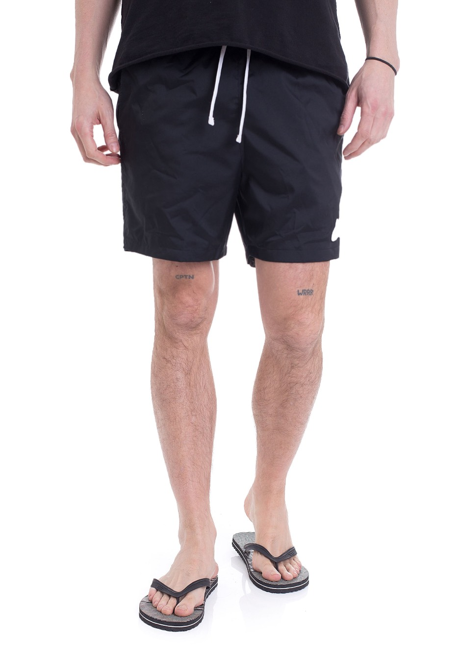 b6663a61a2338 Nike - NSW Woven Flow Black White - Shorts - Streetwear Shop -  Impericon.com US