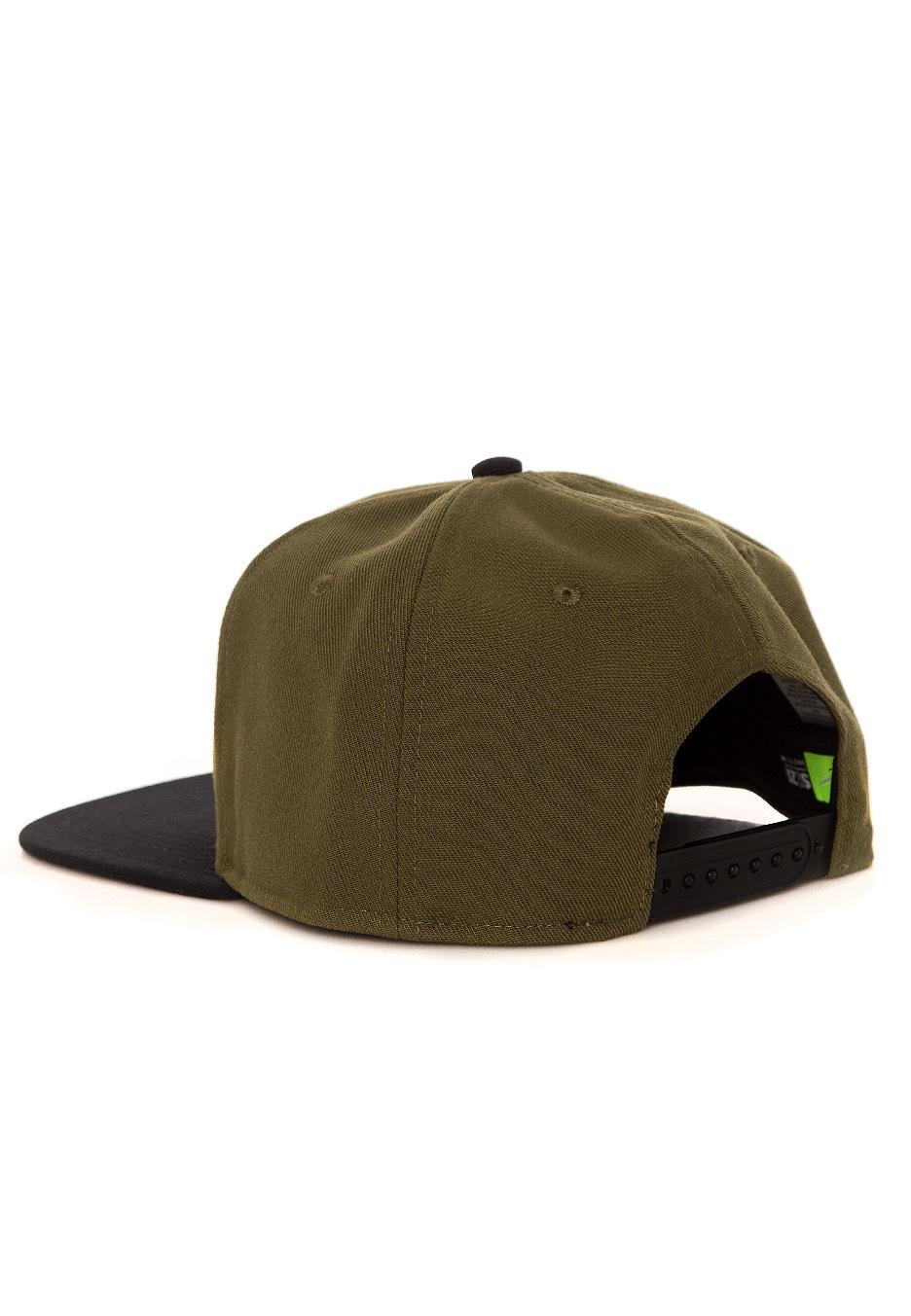 ... Nike - Pro Swoosh Classic Olive Canvas Black Yellow Ochre - Cap ... 54a9ddd7886