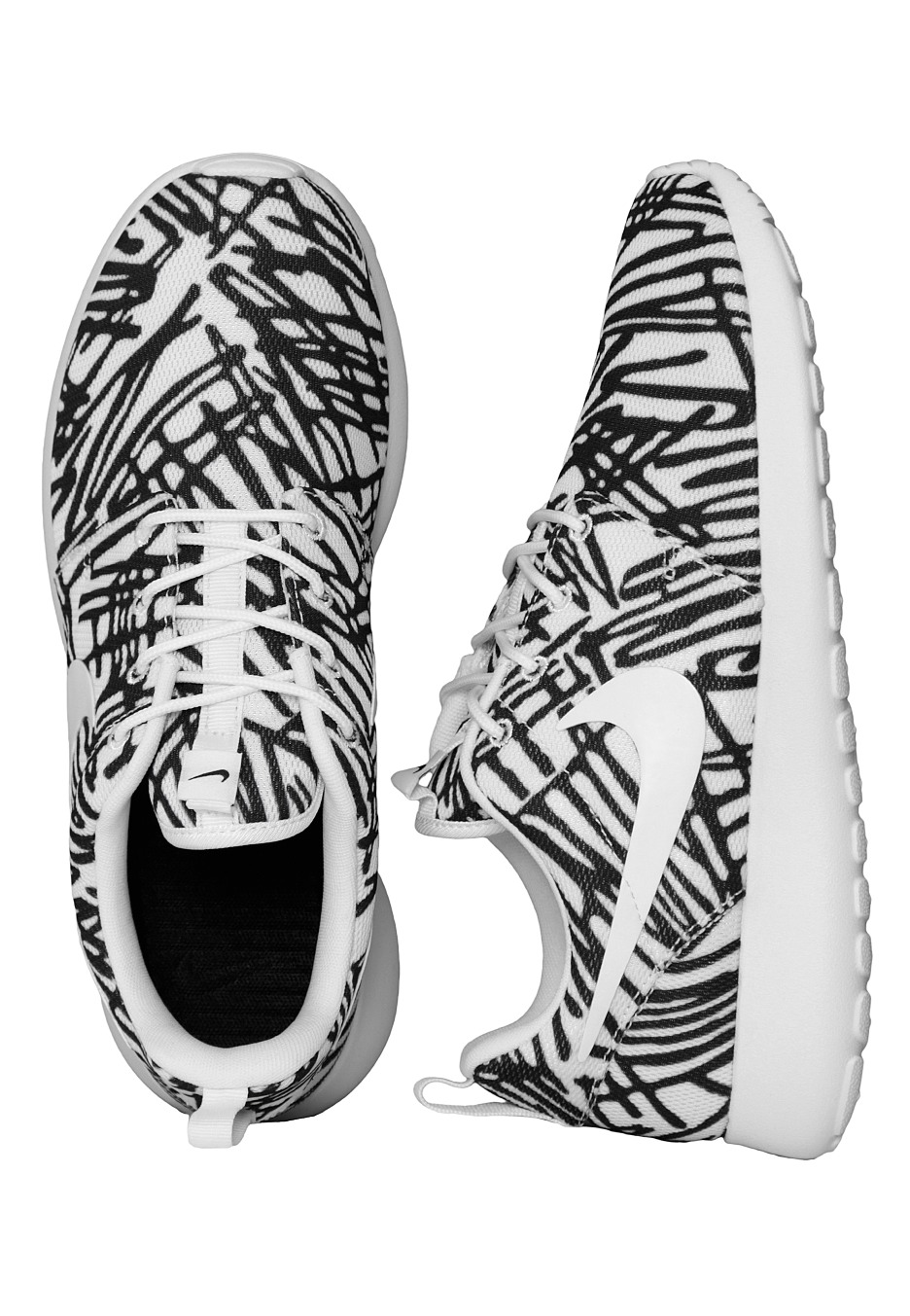 ad62be609245 Nike - Roshe One Print White White Black - Girl Shoes - Impericon.com UK