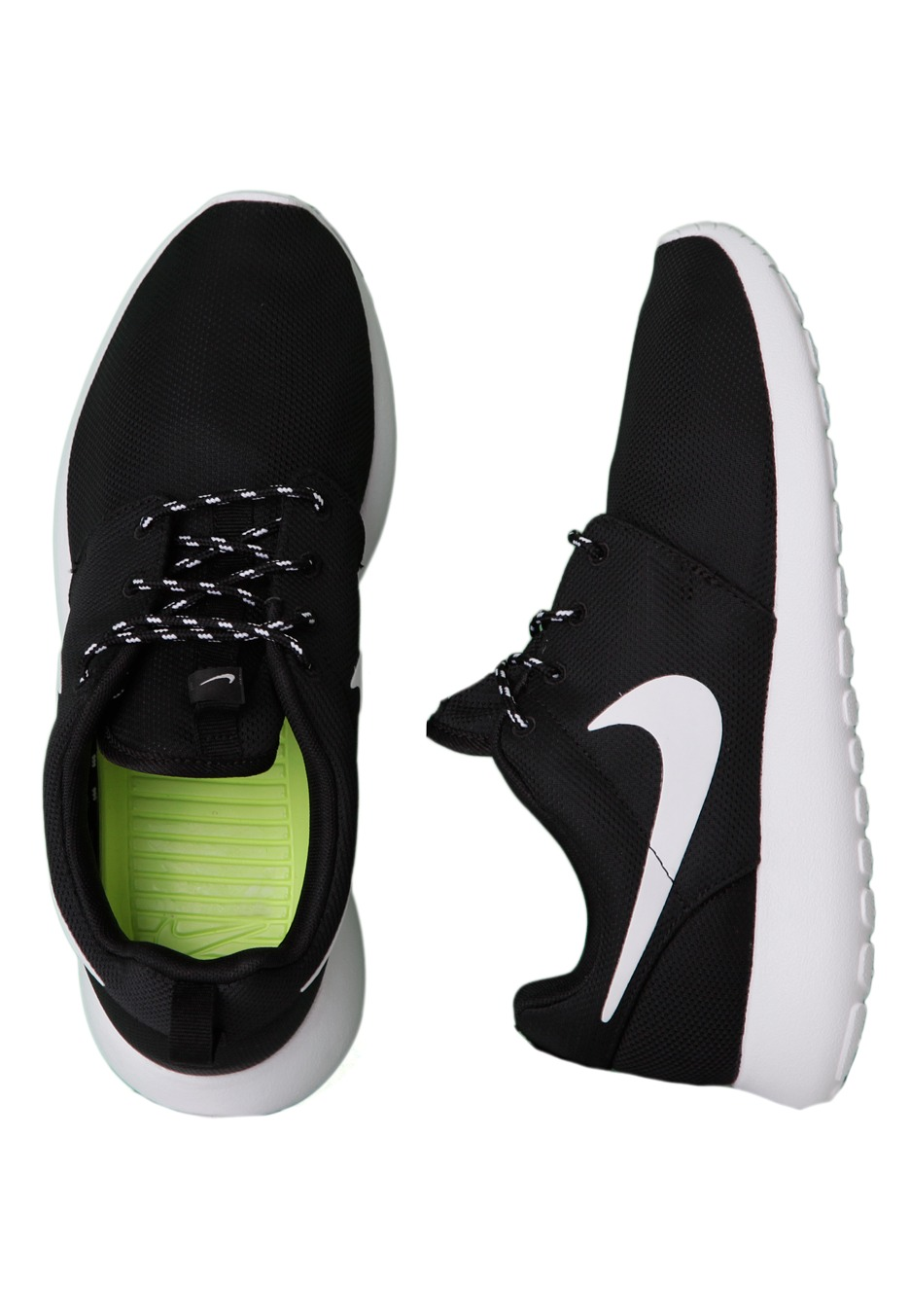 1e5f7d62453ed Nike Roshe Run Women Black And White Volt extreme-hosting.co.uk
