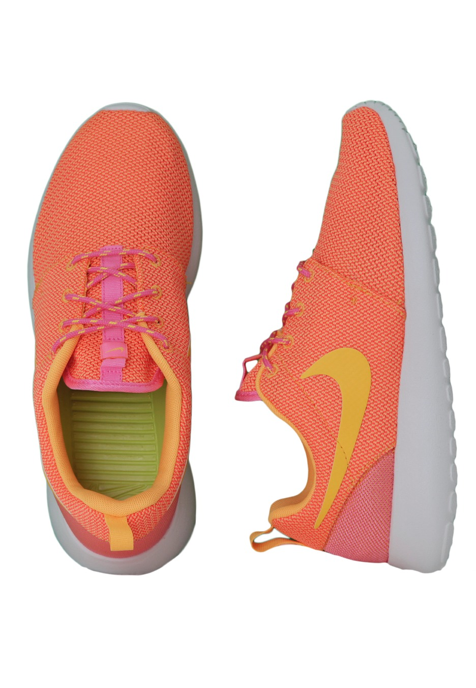 ... nike roshe run pink glow atomic mango summit white girl shoes impericon  worldwide ...