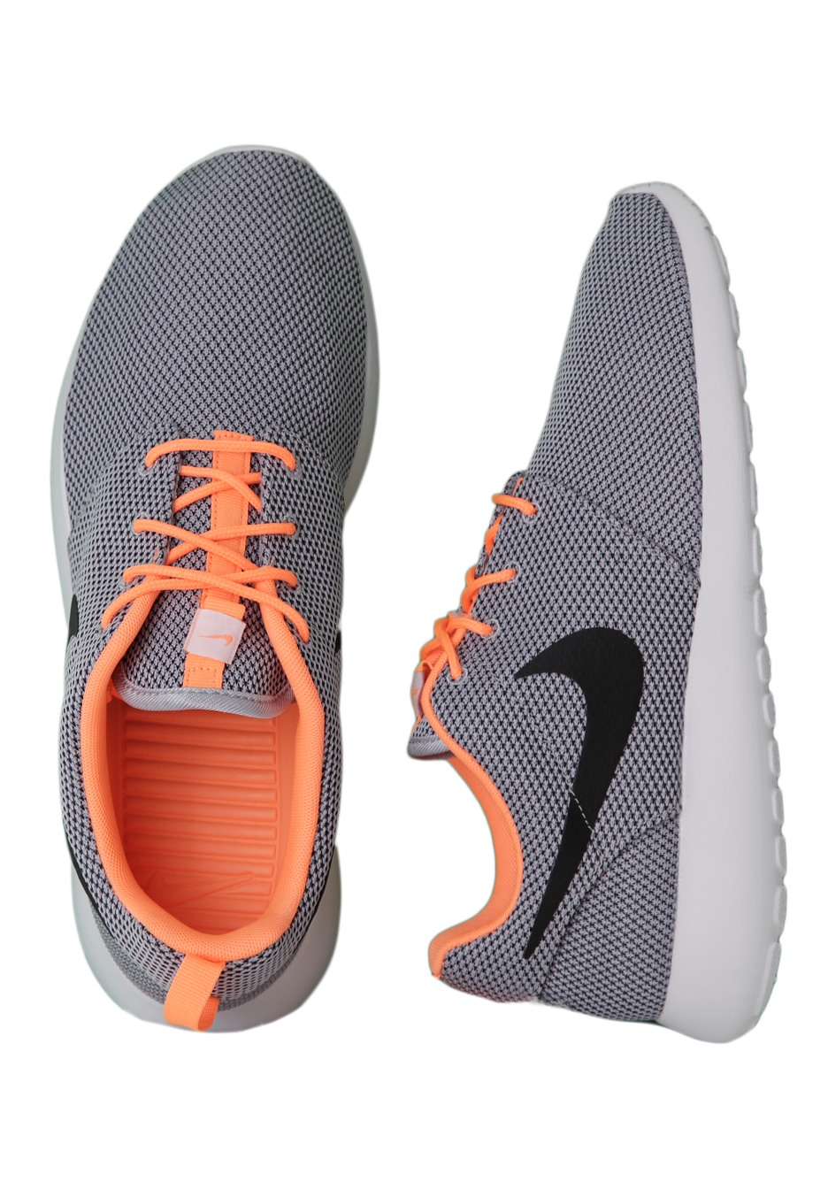 best sneakers 6dc4e ab5a5 Nike - Roshe Run Wolf Grey/Black/Atomic Orange/White - Shoes -  Impericon.com UK
