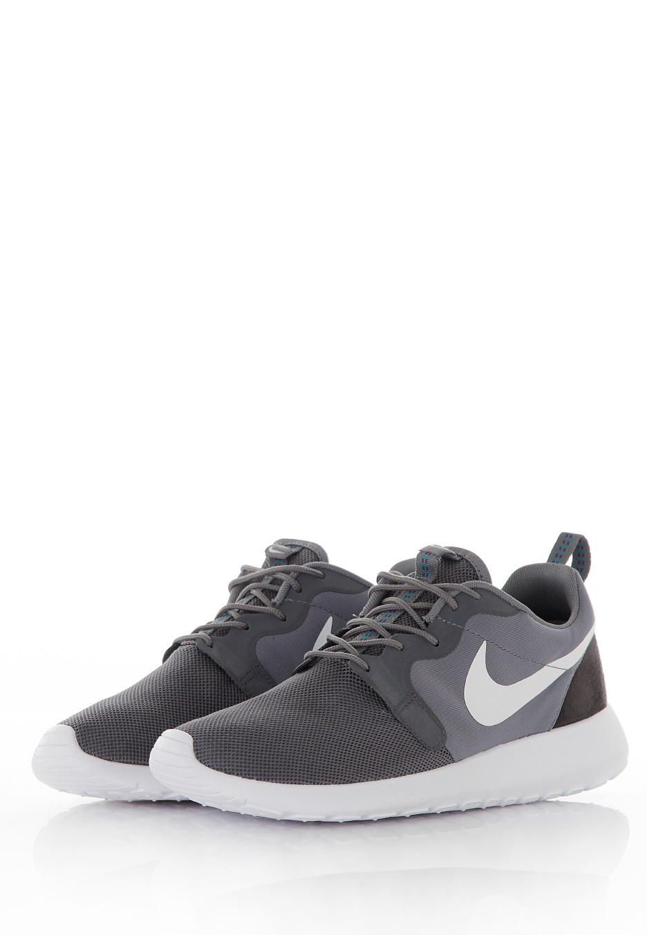 Nike Roshe Run Hyperfuse Clear GreyWhiteAnthraciteTurbo Green Shoes