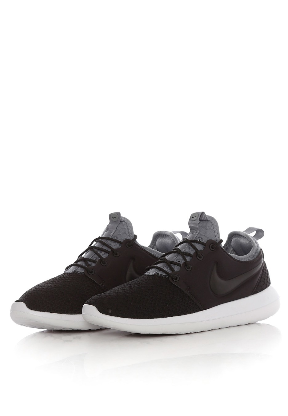 pretty nice f2dea 15026 ... new zealand nike roshe two se black black cool grey white girl shoes  de2e0 4bcfc