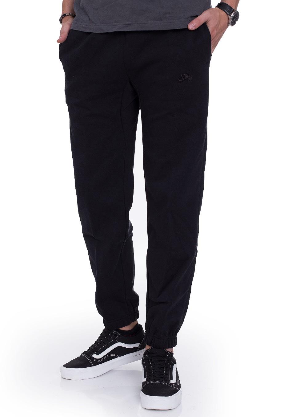 Nike - SB Icon Fleece Black Black - Sweat Pants - Streetwear Shop ... 6806131da730