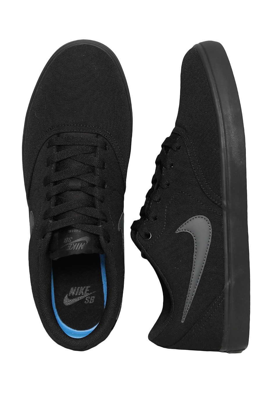 Nike Sb Check Solarsoft Canvas Black Anthracite Shoes
