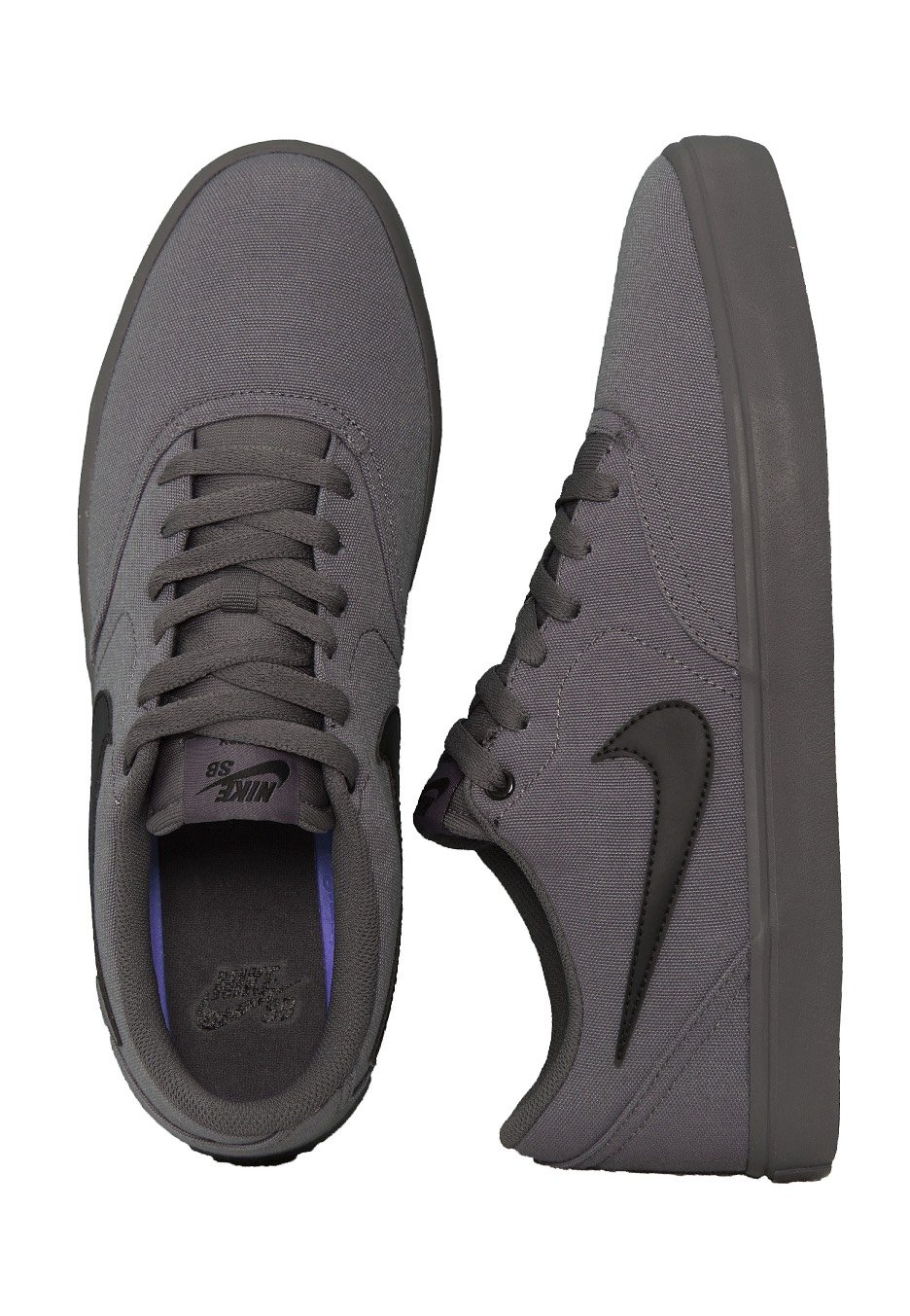 Nike - SB Check Solarsoft Canvas Dark Grey Black - Shoes - Streetwear Shop  - Impericon.com UK 906d69df7df3
