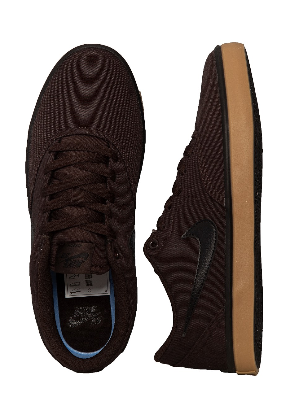 Nike - SB Check Solarsoft Canvas Velvet Brown Black Gum Yellow - Shoes -  Streetwear Shop - Impericon.com US cbfa71d3f800