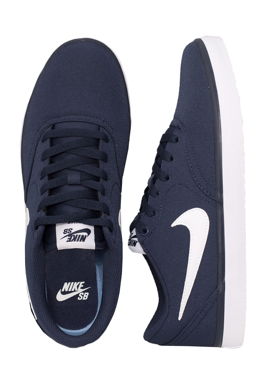 check out 92744 a48c8 Nike - SB Check Solarsoft Canvas Midnight Navy White - Shoes - Streetwear  Shop - Impericon.com UK