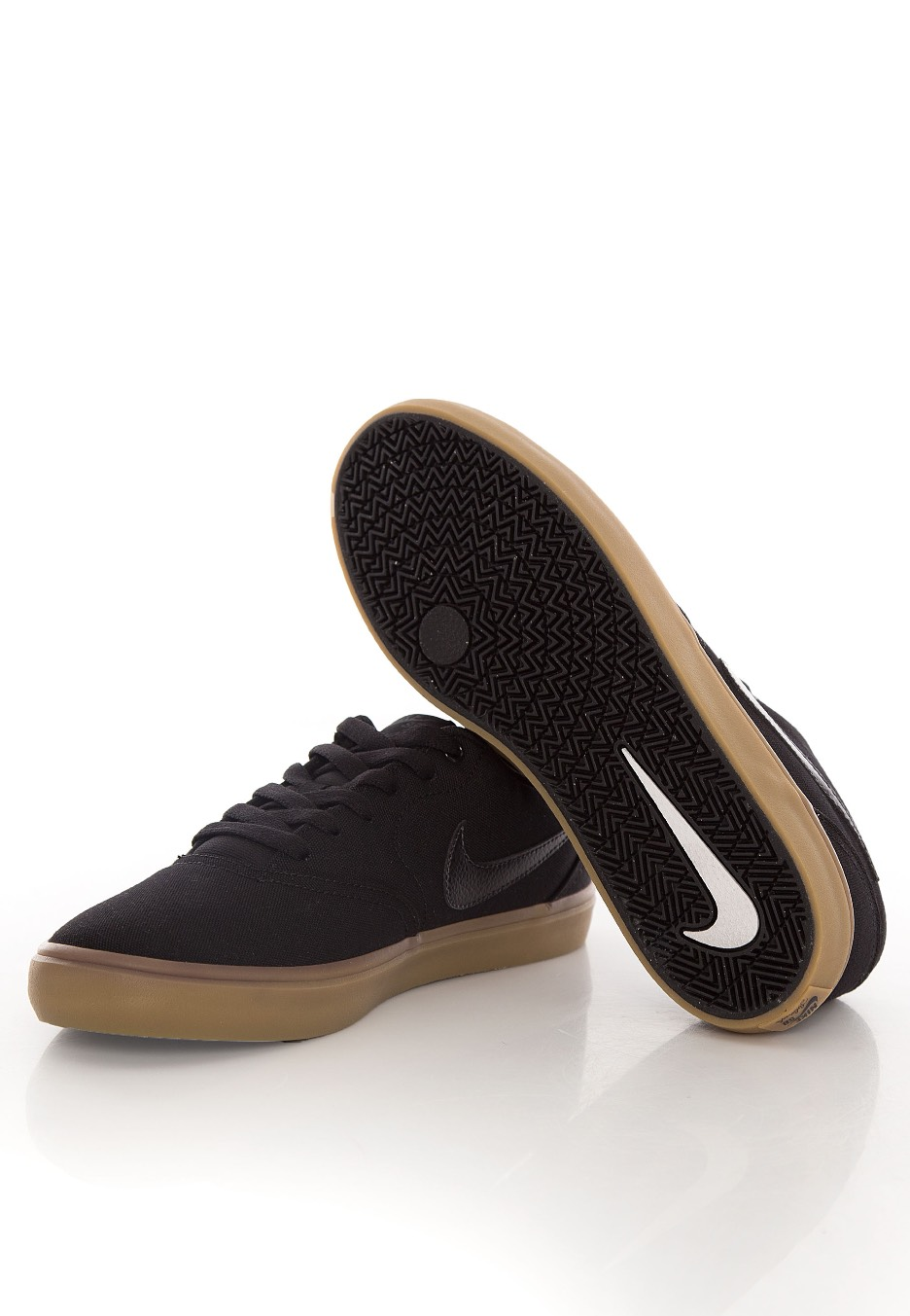 Nike Sb Check Solarsoft Canvas Skateboarding Black Black