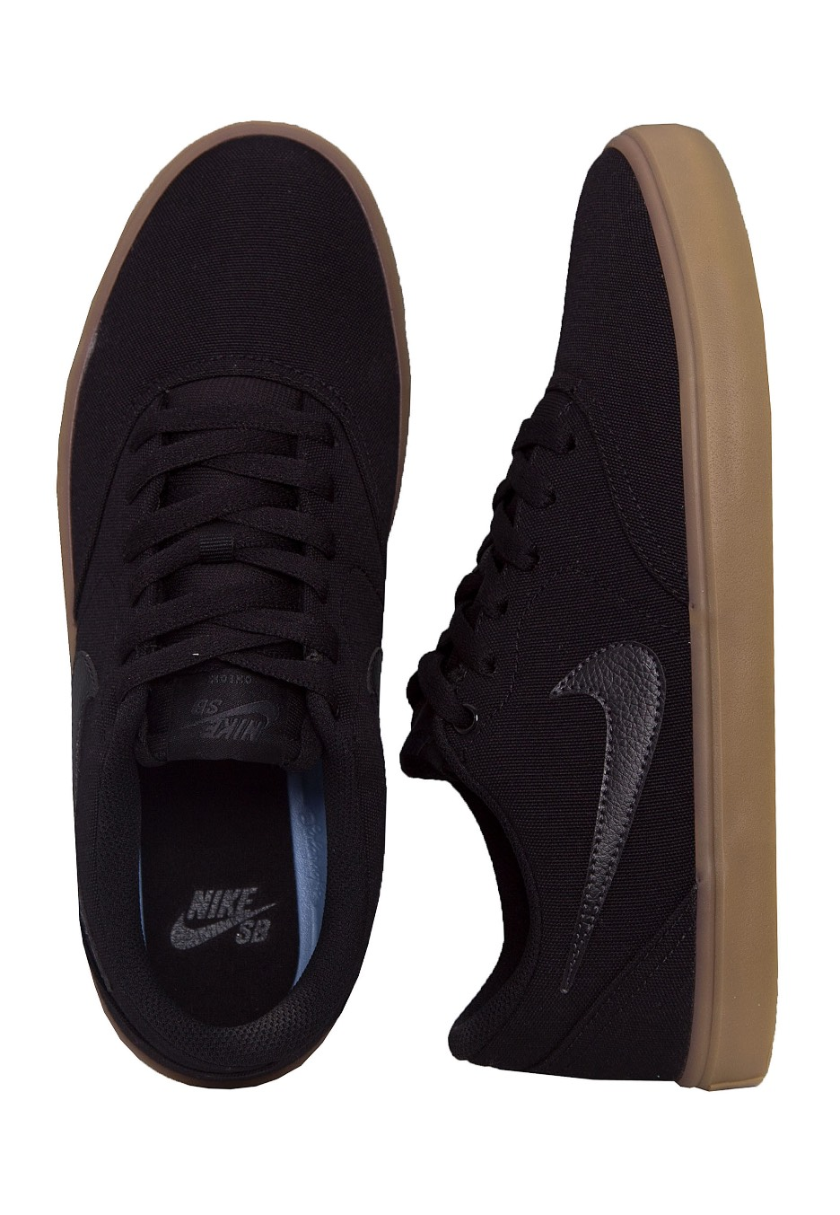 wholesale dealer 49533 4fb74 Nike - SB Check Solarsoft Canvas Skateboarding Black Black Gum Light Brown  - Shoes - Streetwear Shop - Impericon.com UK
