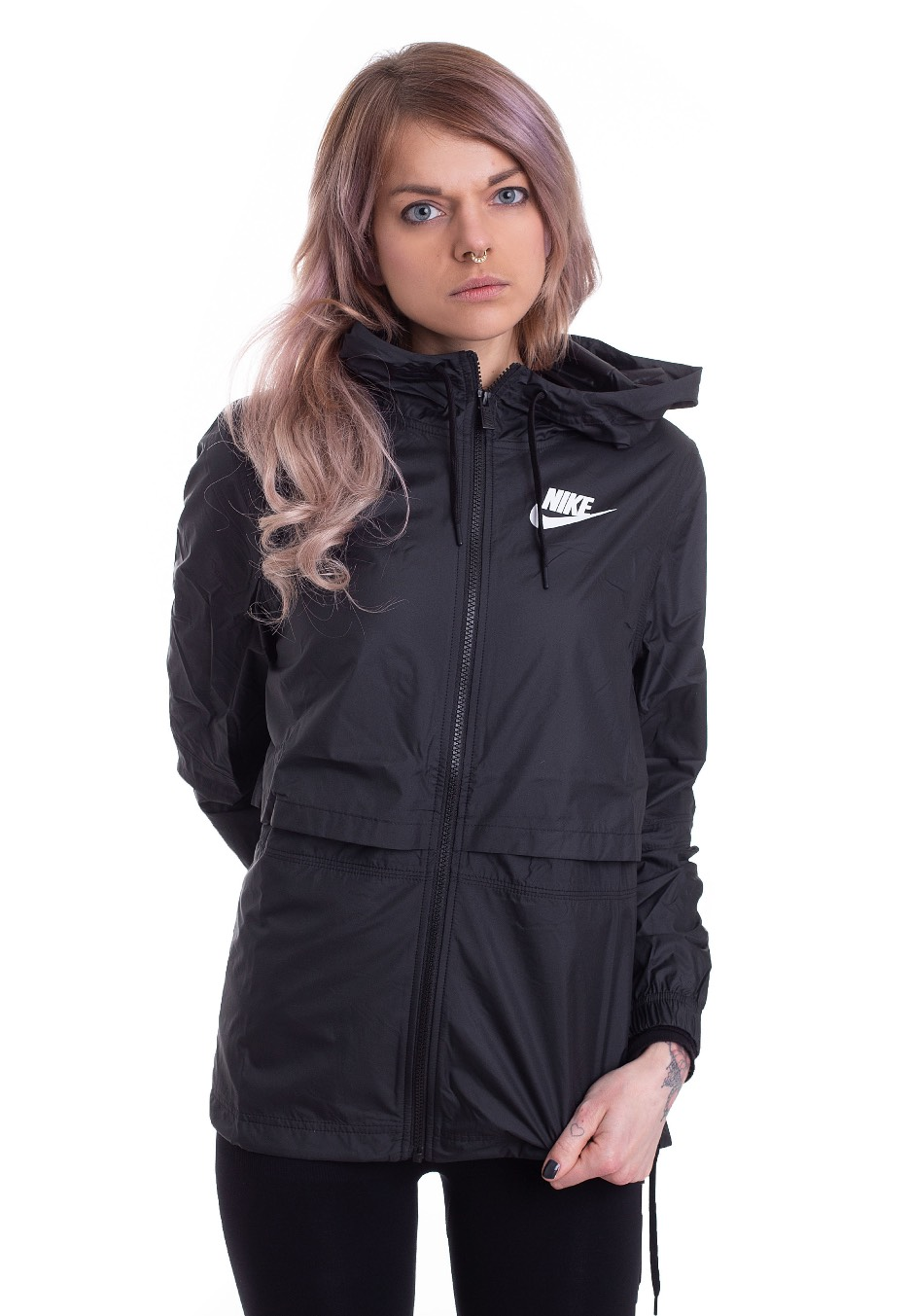 be51fd6ade6a Nike - Sportswear Black Black Black White - Windbreaker - Streetwear Shop -  Impericon.com UK