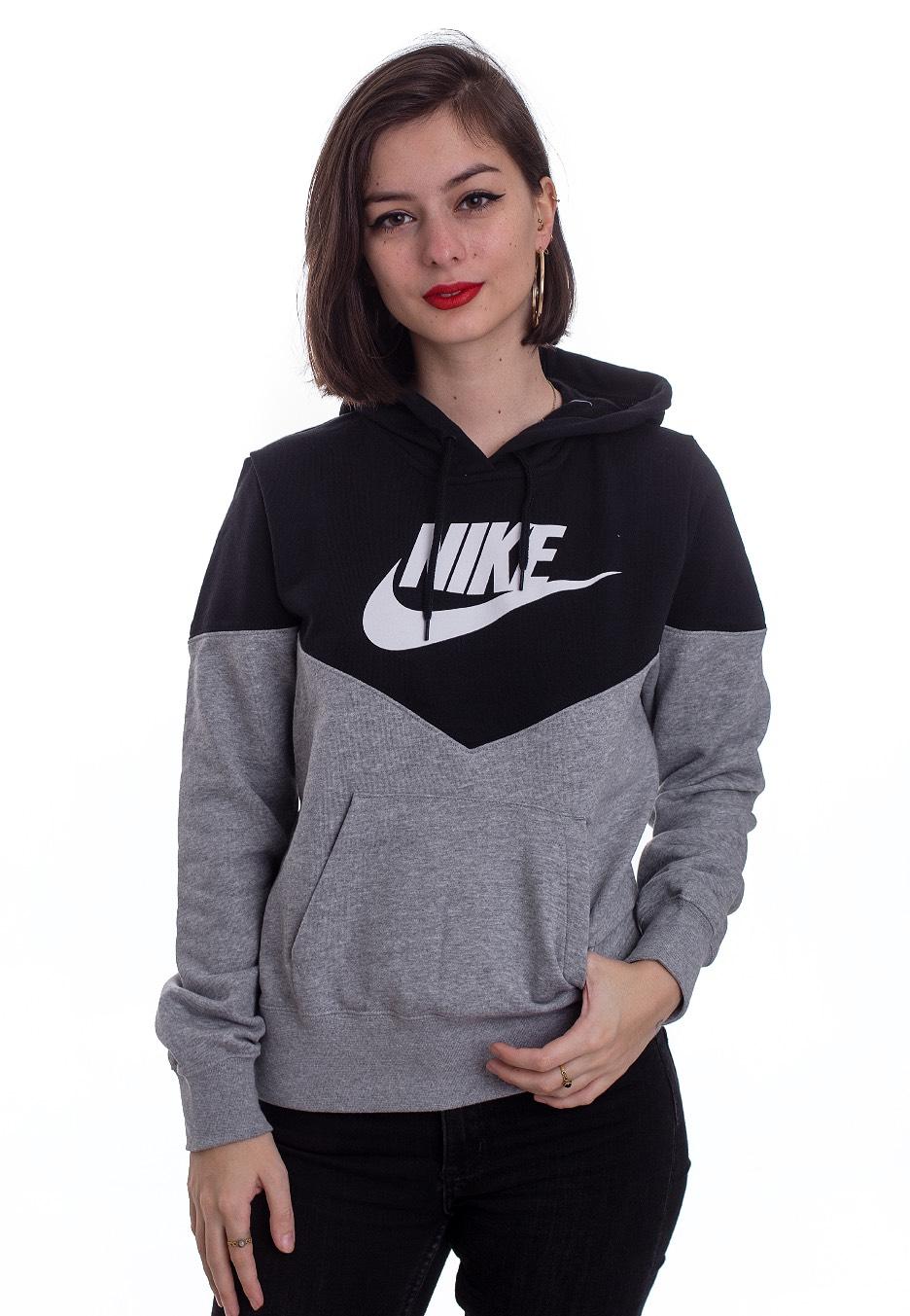 Nike , Sportswear Dark Grey Heather/Black/White , Hoodie