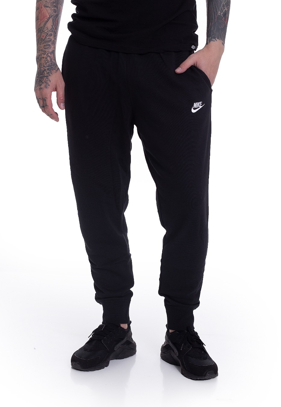 Fatídico difícil Blanco  Nike - Sportswear Club Black/Black/White - Sweat Pants ...