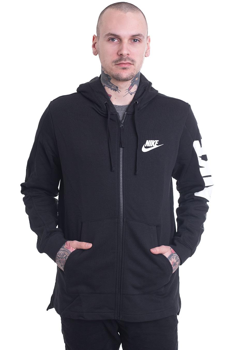 Nike Sportswear Hybrid BlackBlackWhite Zipper