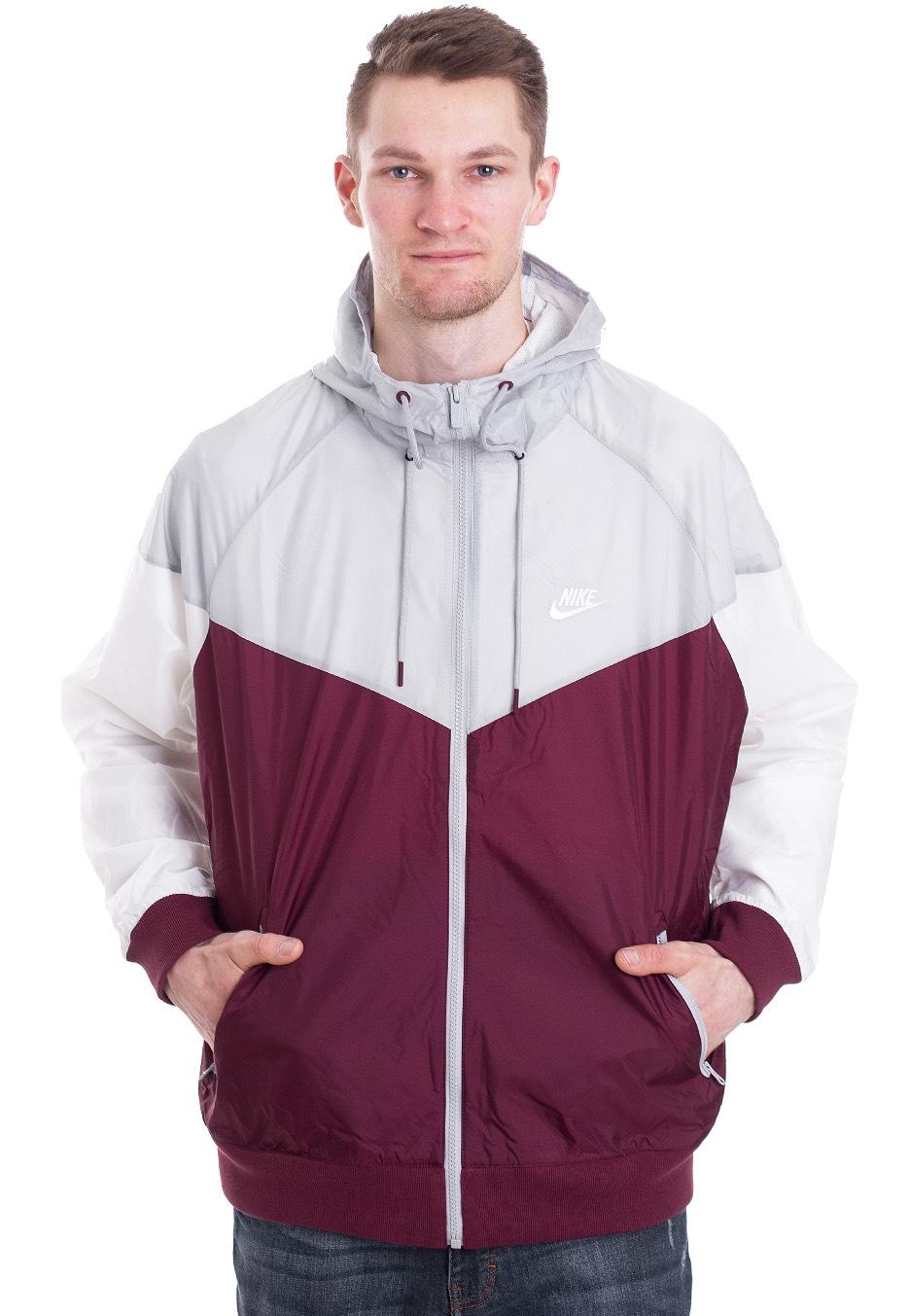 96551b94162 Nike - Sportswear Windrunner Night Maroon/Wolf Grey/Sail/Sail - Windbreaker  - Streetwear Shop - Impericon.com US