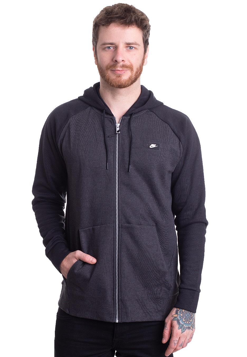 Manifiesto Abuelo personalizado  Nike - Sportswear Optic Fleece Black/Heather - Zipper - Impericon.com  Worldwide