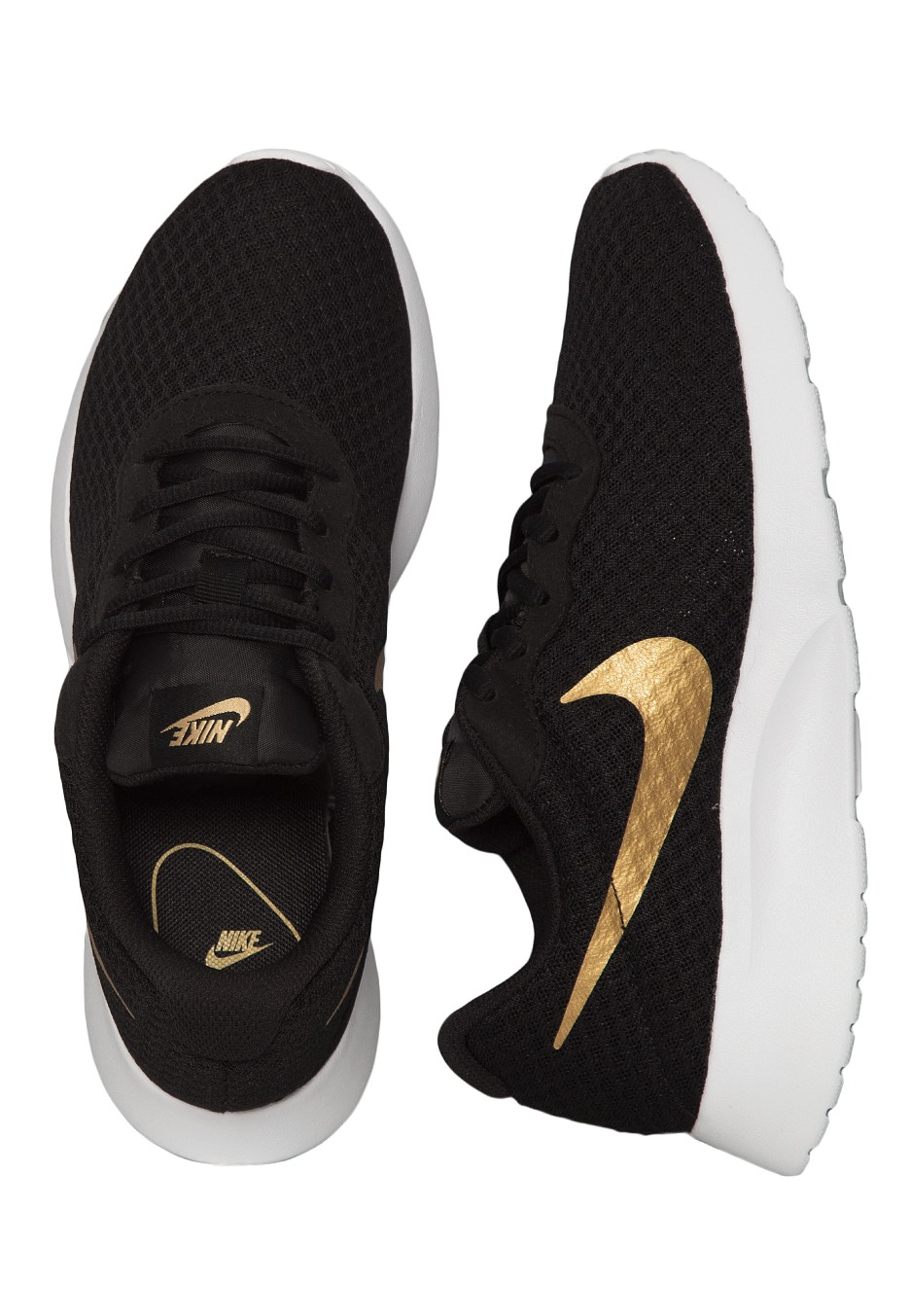 9d018e59681d Nike - Tanjun Black Metallic Gold - Girl Shoes - Impericon.com Worldwide