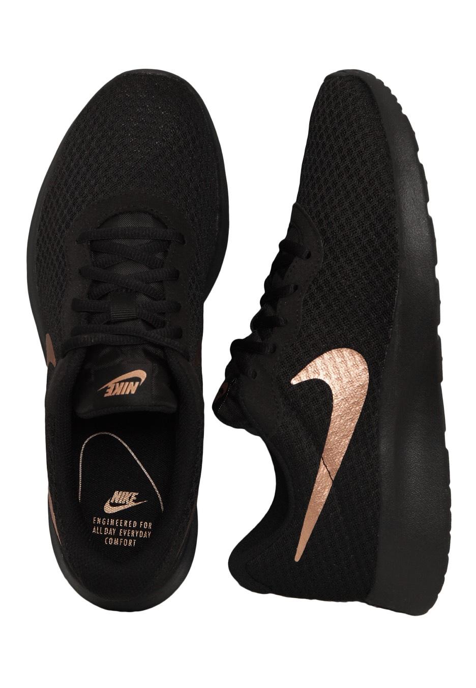 Nike - Tanjun Black/Metallic Red Bronze - Girl Schuhe