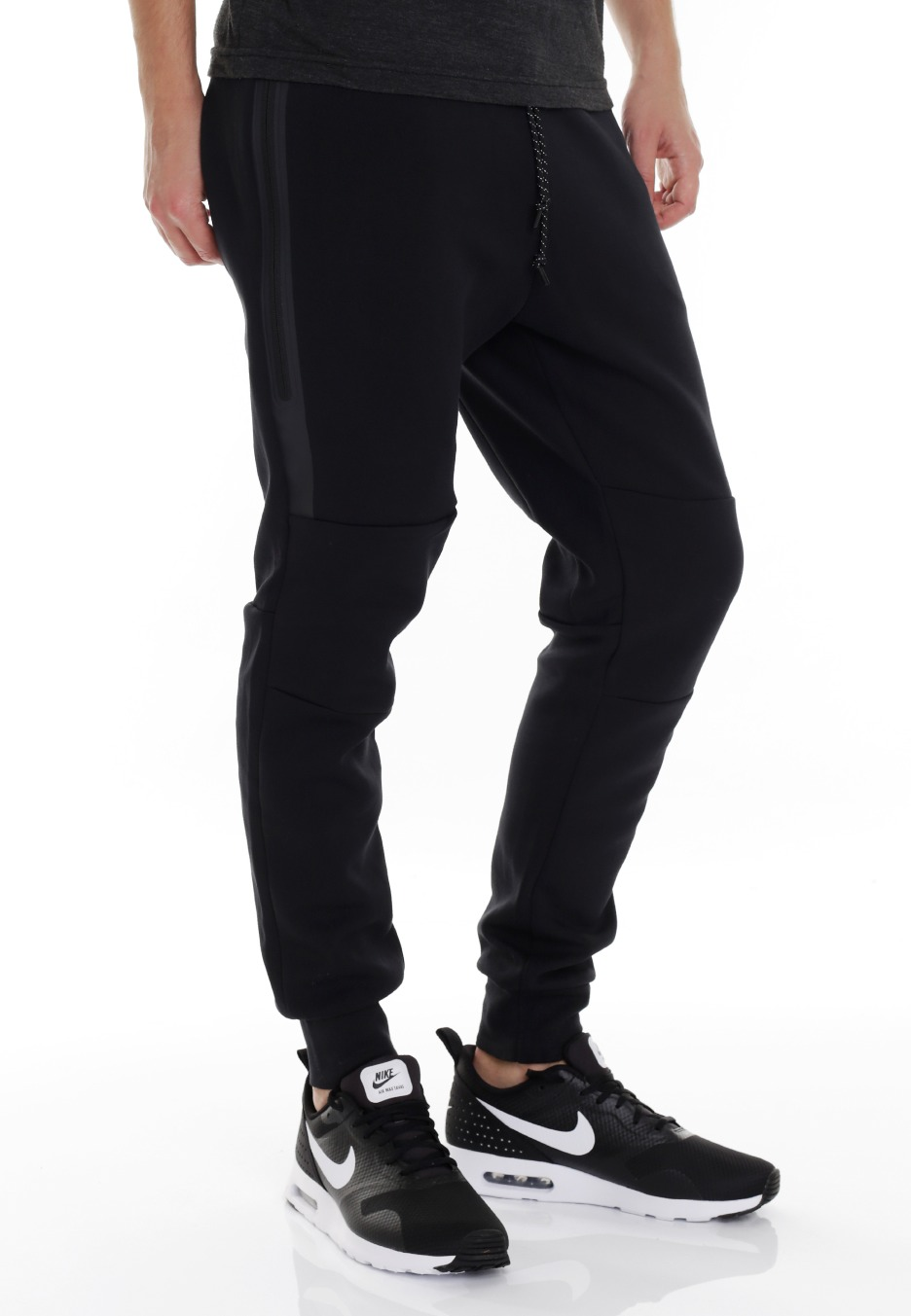 nike tech fleece black black black sweat pants. Black Bedroom Furniture Sets. Home Design Ideas