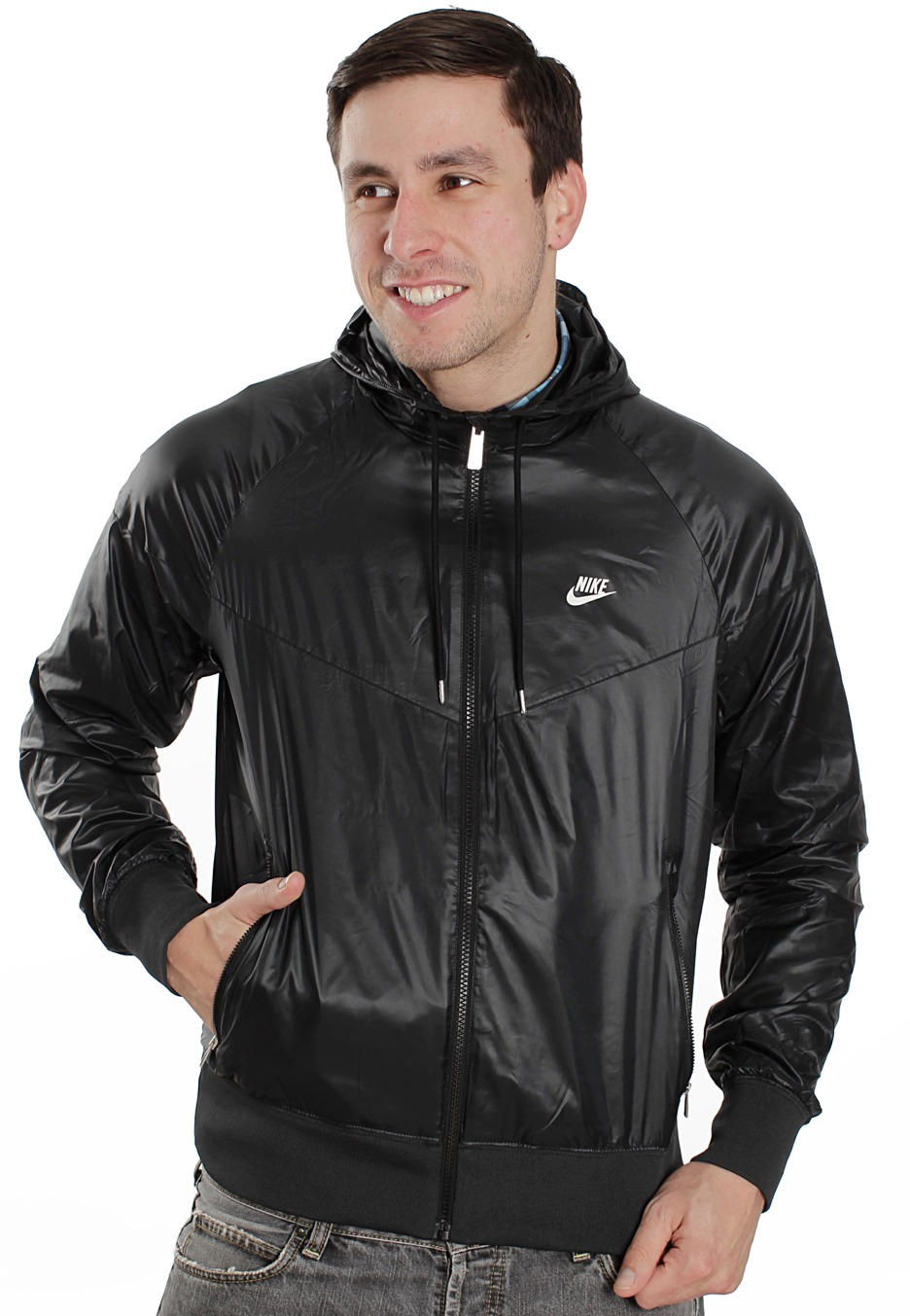 4c0f536feacf88 Nike - The Windrunner Black Black Black White - Windbreaker - Streetwear  Shop - Impericon.com AU