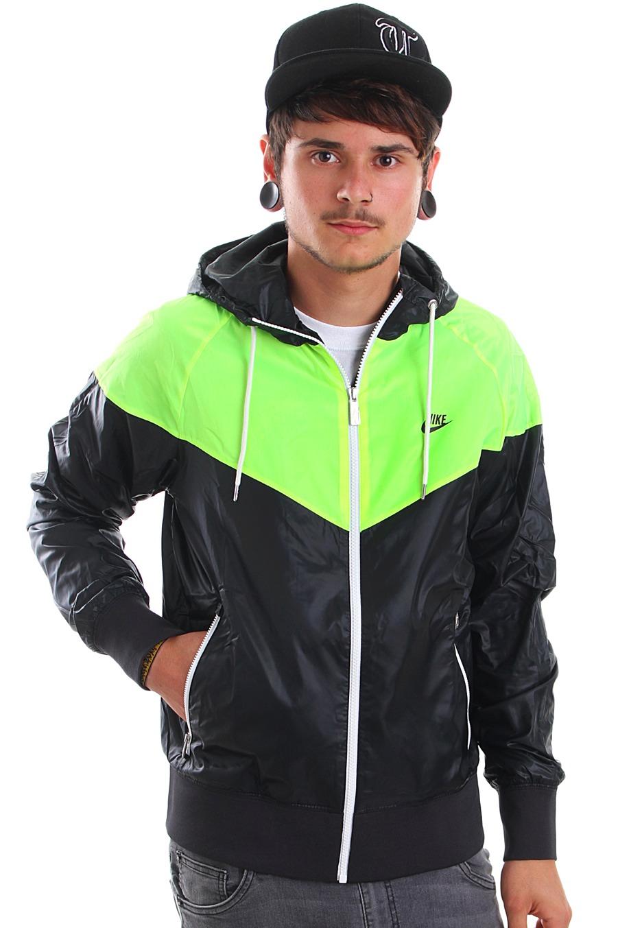 680bbf92cdc9 Nike - The Windrunner Black Volt Black - Windbreaker - Streetwear Shop -  Impericon.com UK