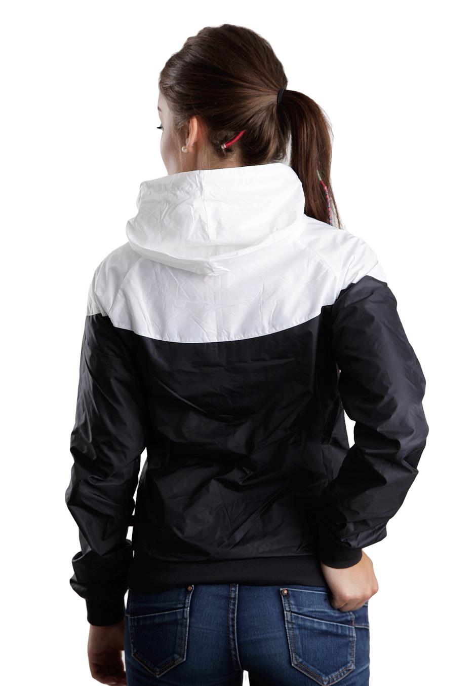 Nike - The Windrunner Black White Black - Girl Jacket - Streetwear ... 2d188b2171