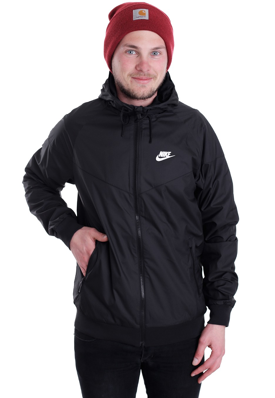 world-wide renown good reputation exquisite style Nike - Windrunner Black/Black/Black/White - Jacket