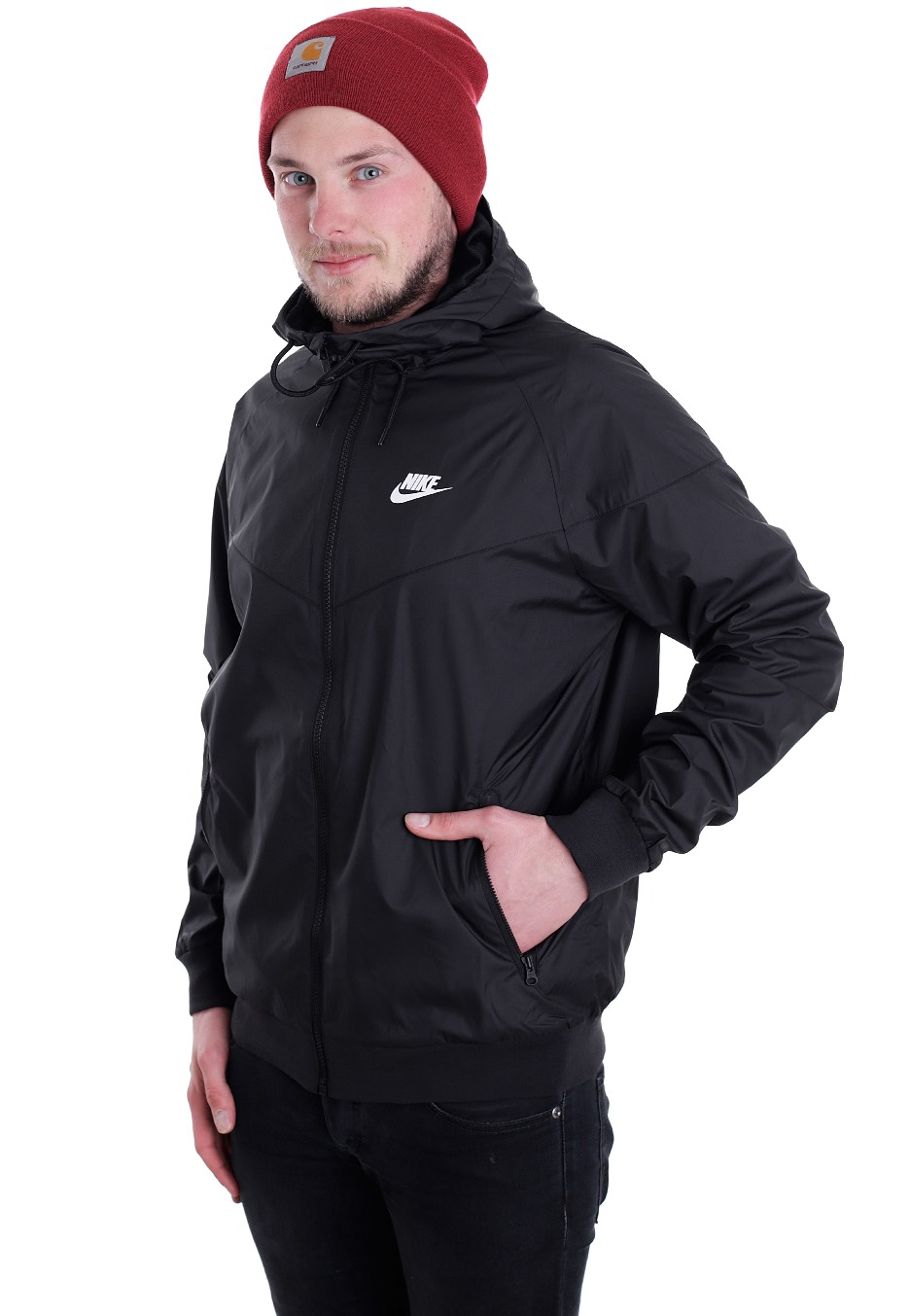 Nike - Windrunner Black Black Black White - Jacke - Streetwear Shop ... 007b913deb