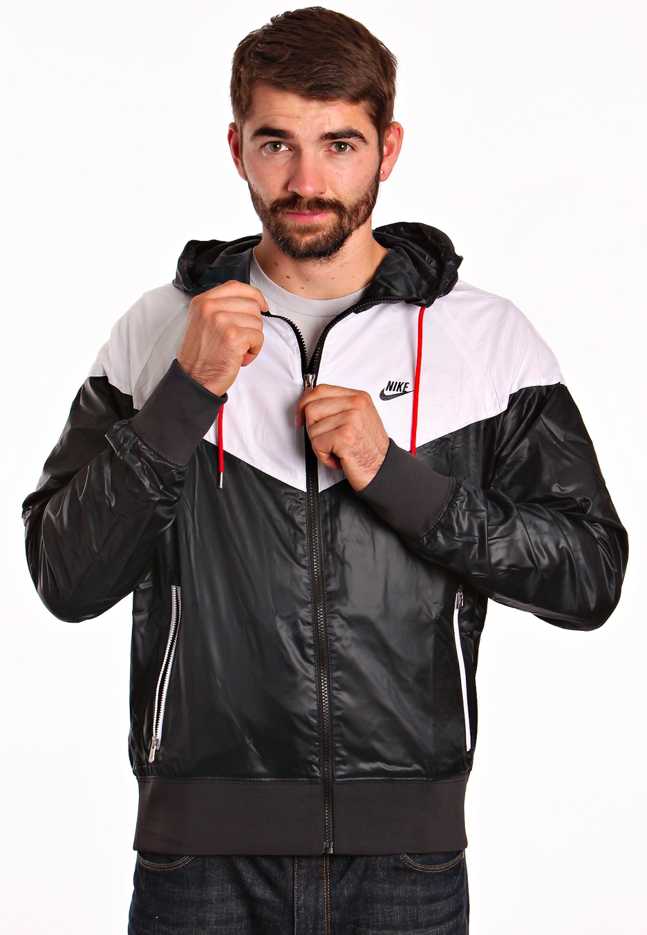 2019 real special discount release info on Nike - Windrunner Black/White/Sport Red/Black - Track Jacket