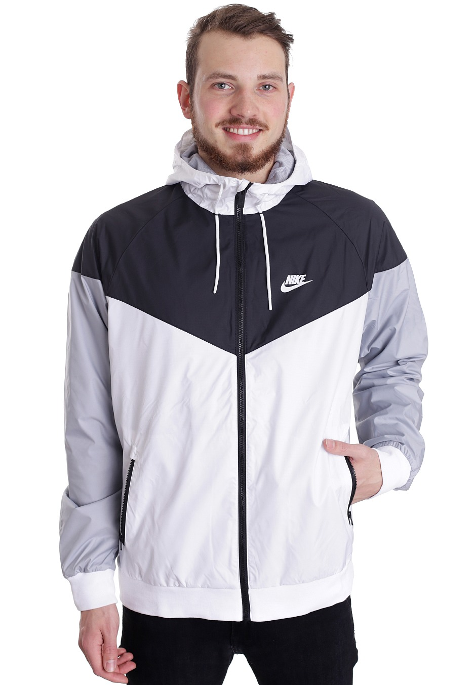 Sales promotion huge selection of superior materials Nike - Windrunner White/White/Black - Windbreaker