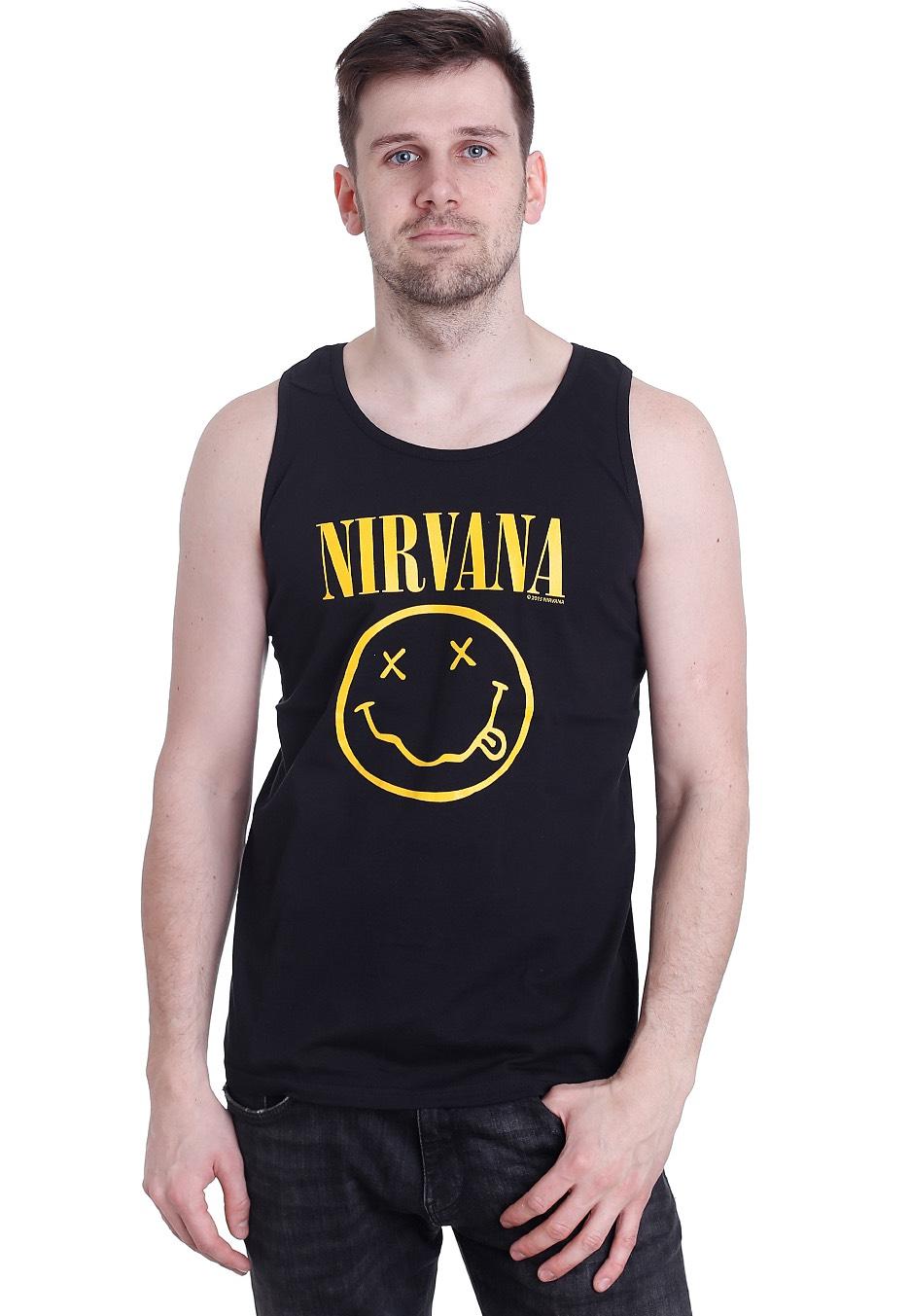 d8ea3065f Nirvana - Smiley - Tank - Official Punk Rock Merchandise Shop -  Impericon.com AU