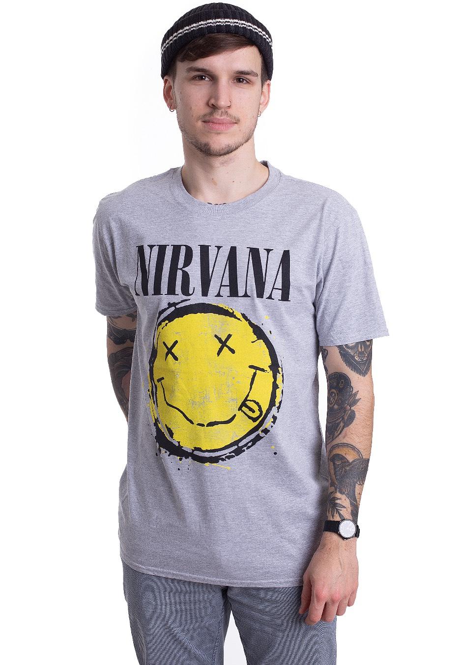 Nirvana - Smiley Splat - - T-Shirts