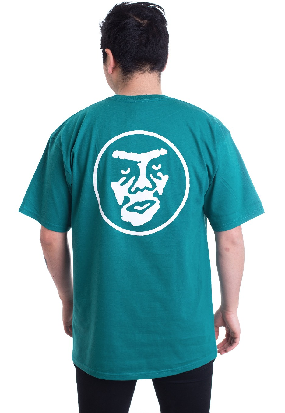 Obey Creeper Circle Teal T Shirt Streetwear Shop Impericon