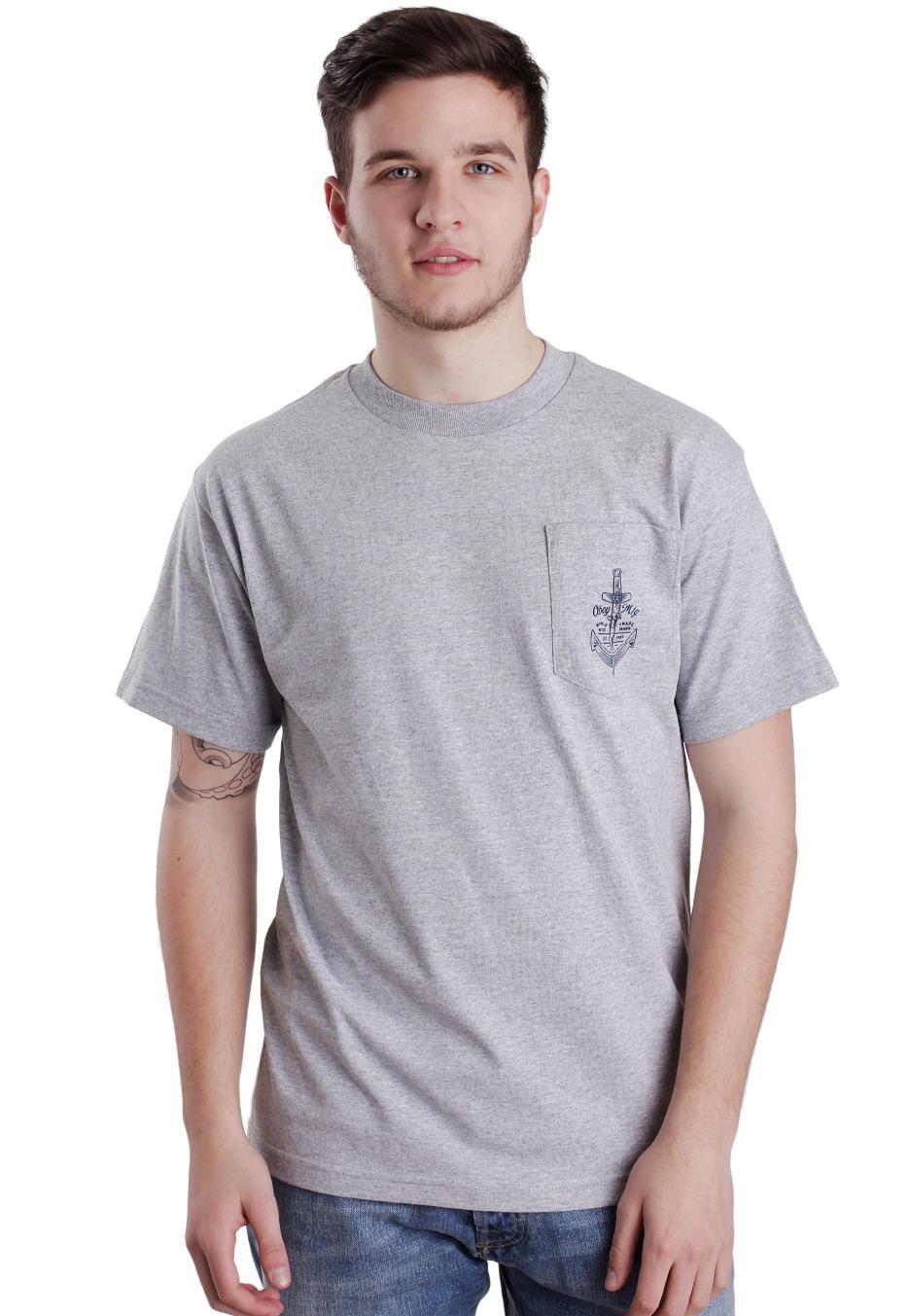 Obey Shankor Heather Grey T Shirt Uk