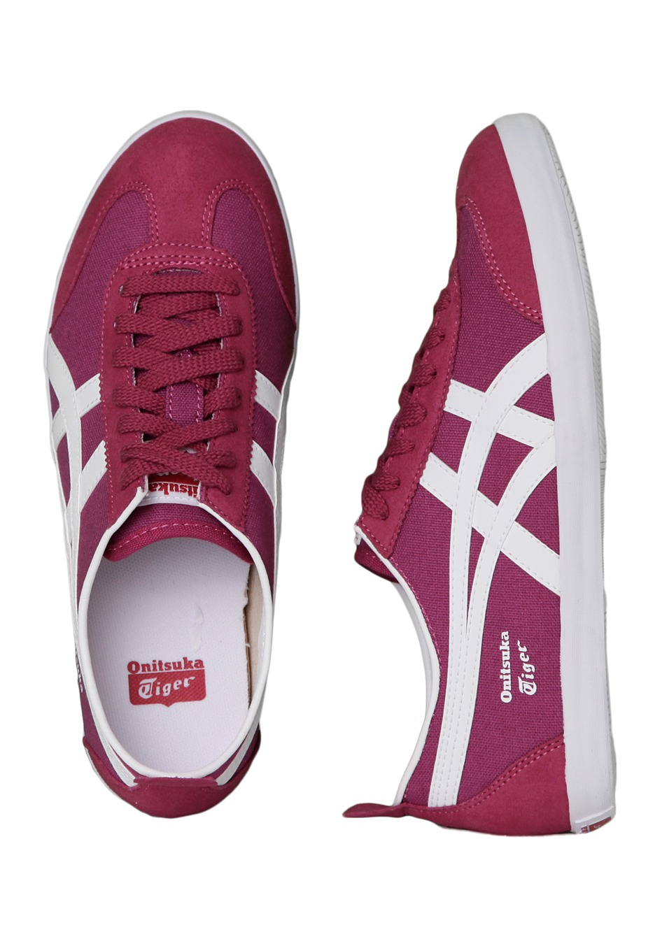 onitsuka tiger - mexico 66 vulc cv wine  white