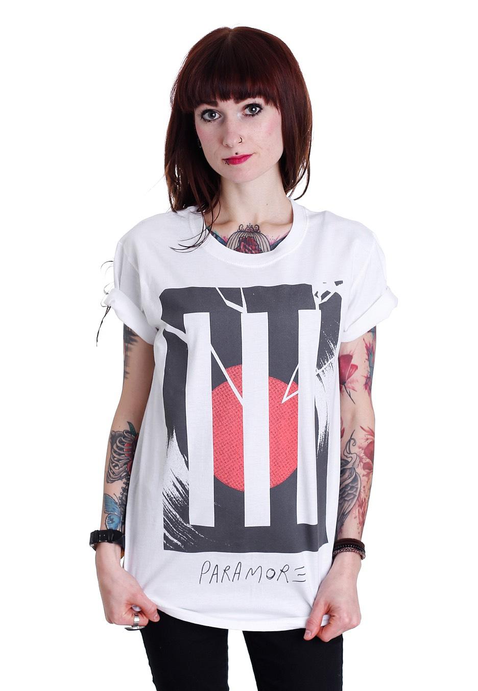 Paramore - Broken Record Bars White - T-Shirt - Official ... Paramore Nederland