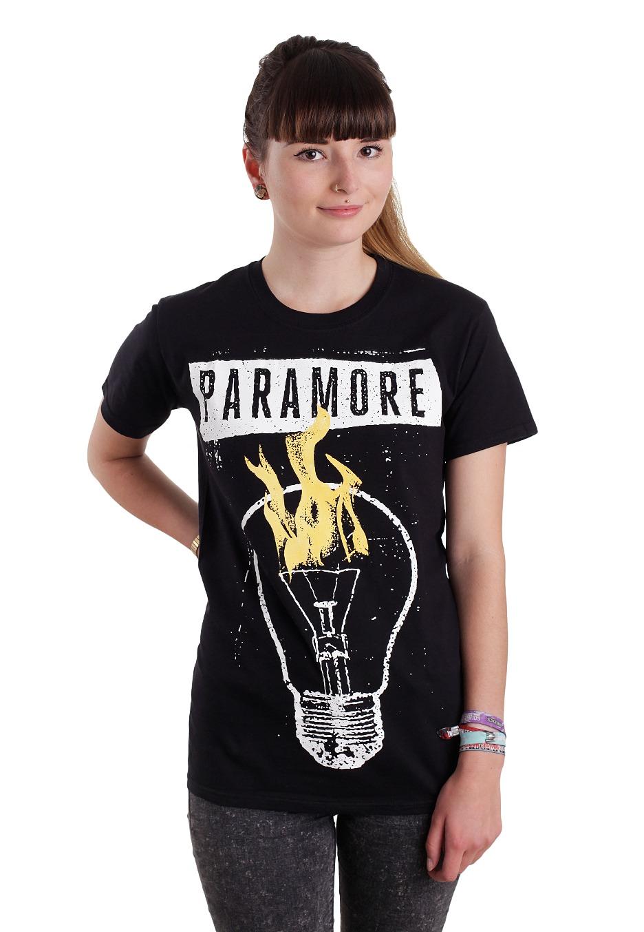 Paramore - Fire Bulb - T-Shirt - Official Rock Merchandise ... Paramore Mersch Nederland