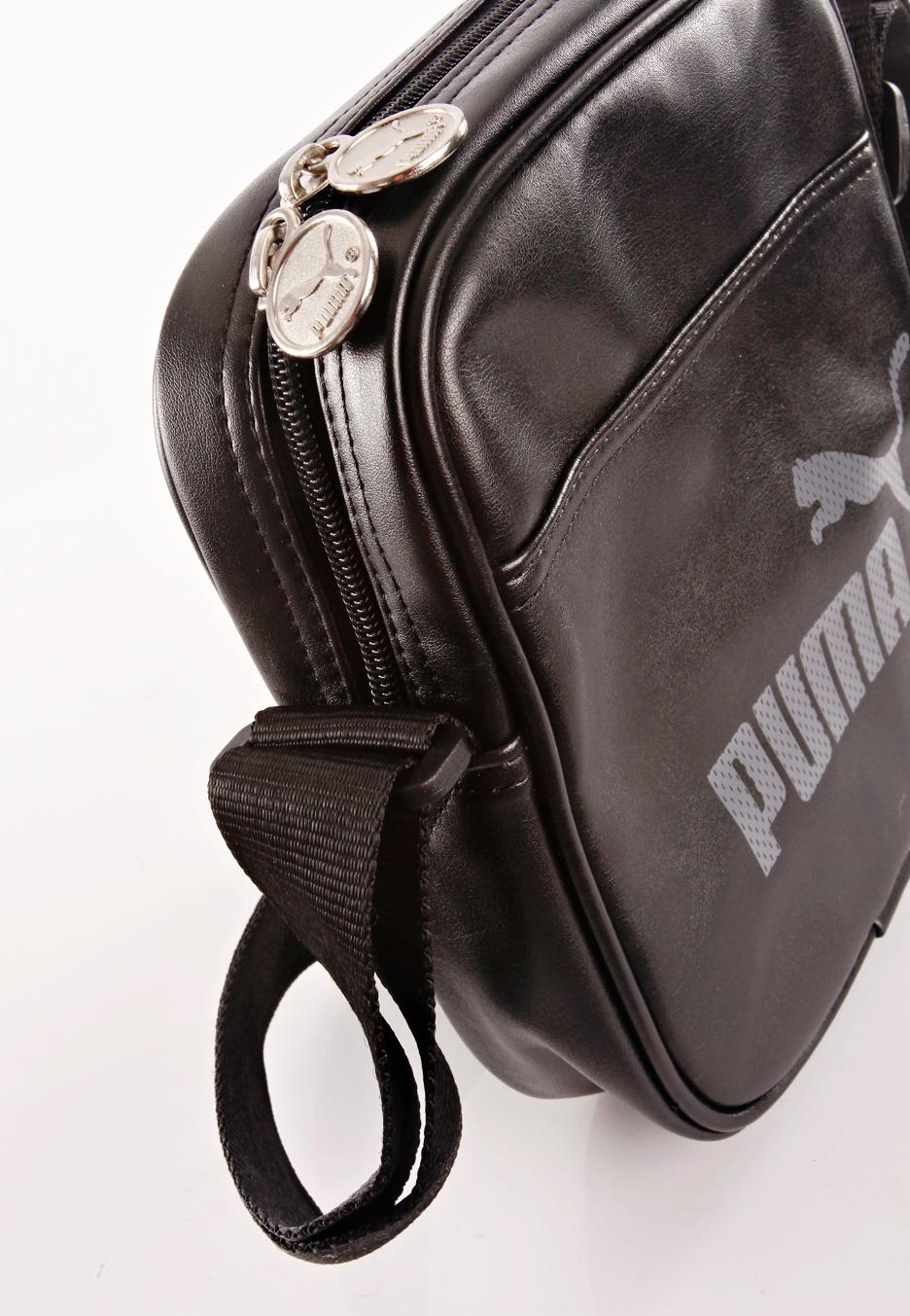 Puma - Campus Portable Black Black Steel Grey - Bag - Impericon.com ... 0786f0c69b