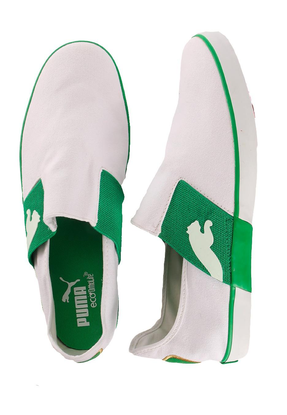 41ac589abb26 Puma - Lazy Slip-On White Fern Green - Shoes - Impericon.com Worldwide