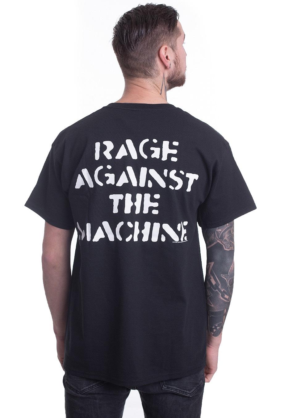 Neu T-Shirt Jumbo Aufdruck Groß Faust Herren Rage Against The Machine
