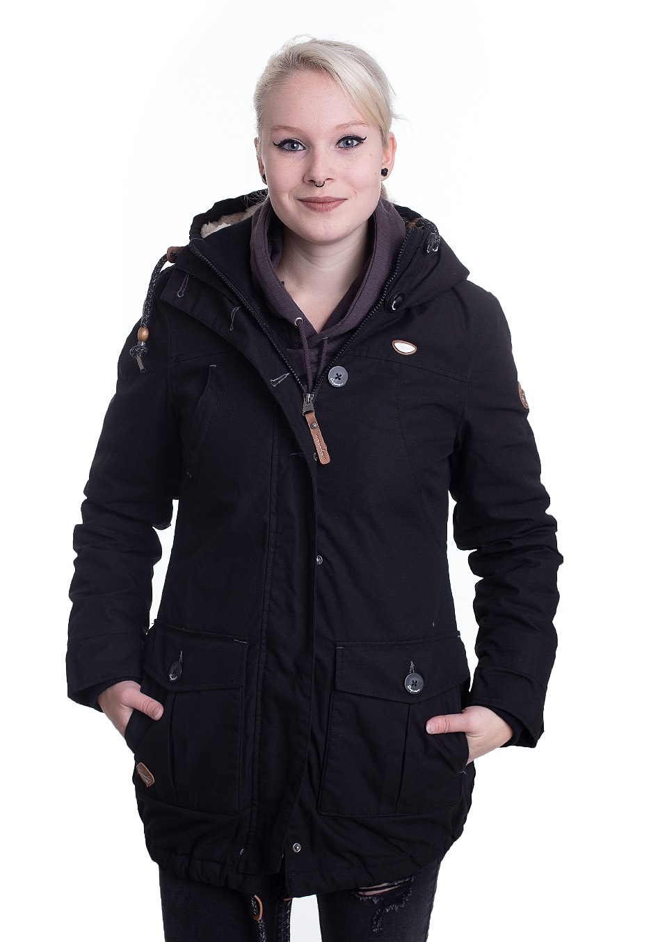 Jacken - Ragwear Jane Black Jacken  - Onlineshop IMPERICON
