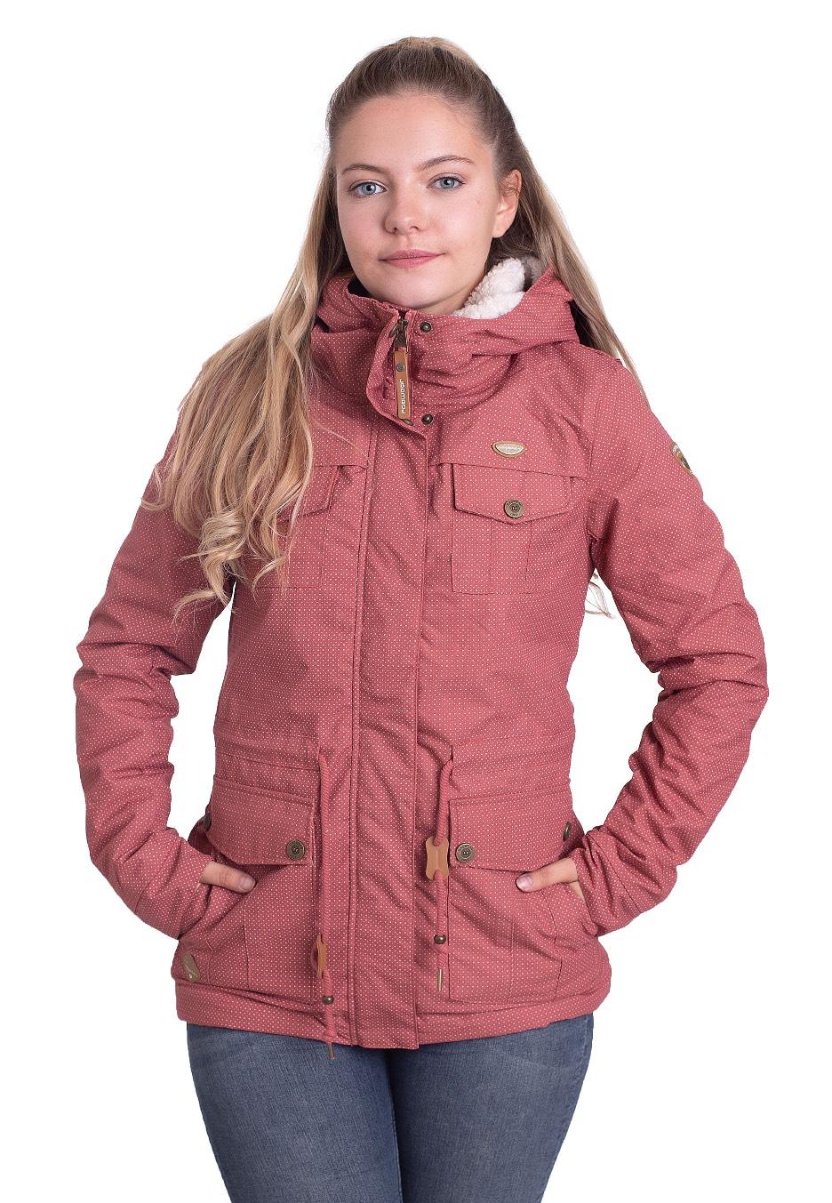 Jacken - Ragwear Laika Minidots Dusty Red Jacken  - Onlineshop IMPERICON