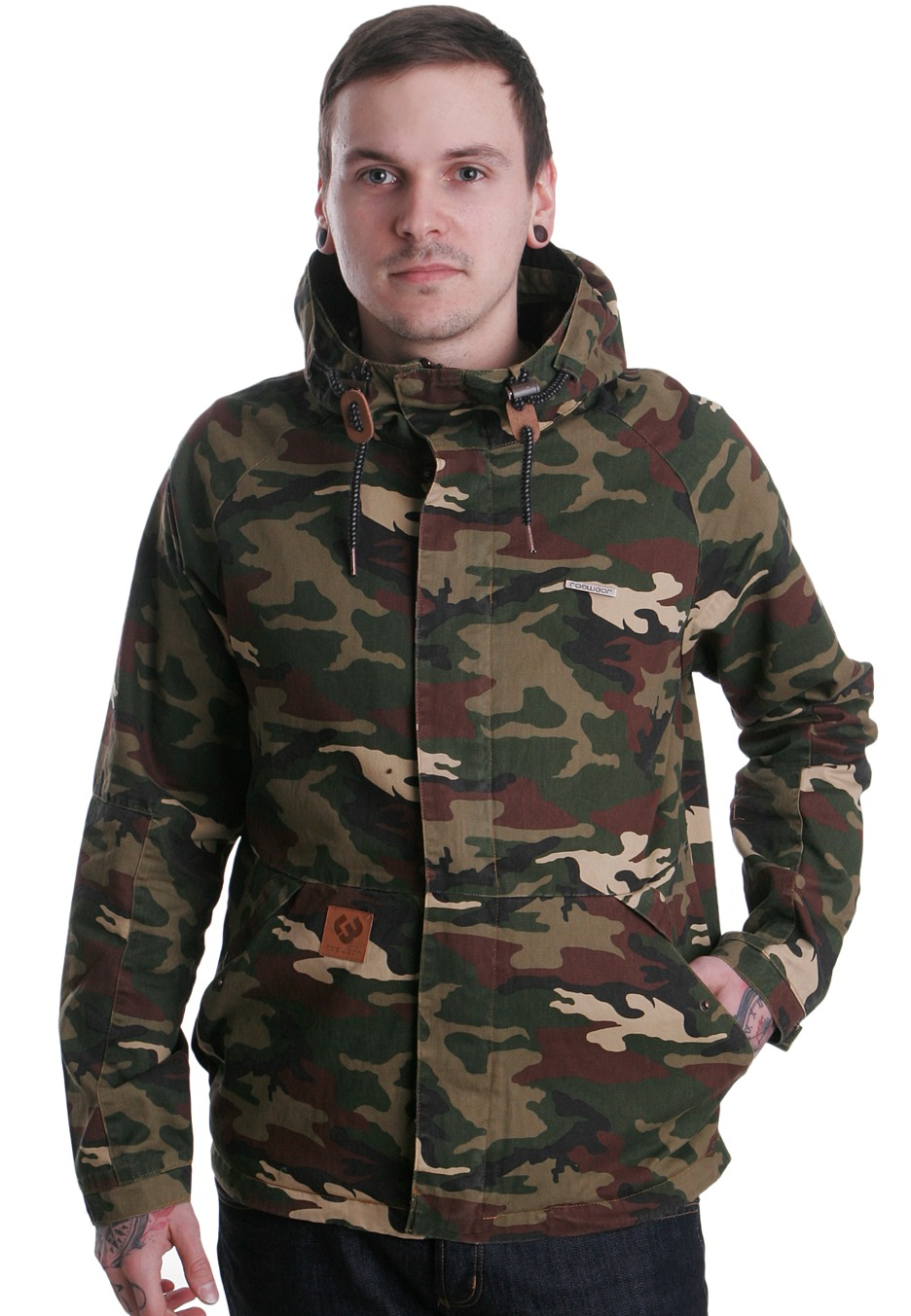 ragwear slide b camouflage jacket streetwear shop uk. Black Bedroom Furniture Sets. Home Design Ideas