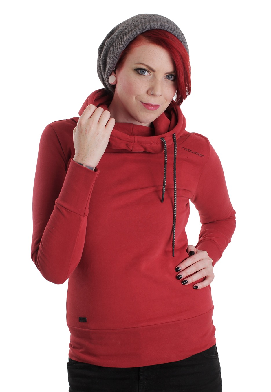 Photo Collection Girl In Red Hoodie