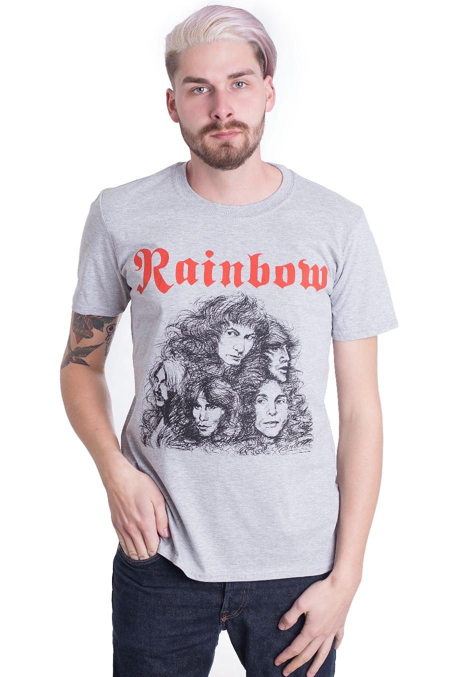 611b00318 Rainbow - Long Live Rock N Roll Grey - T-Shirt - Official Glam Rock  Merchandise Shop - Impericon.com US